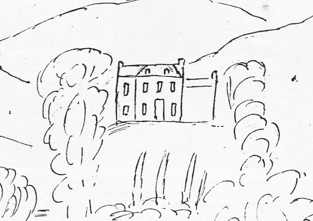 A sketch of Royle Hall in the 18th century