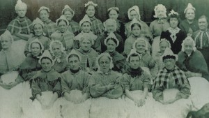 Female inmates at Old Glossop Workshouse 1880